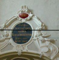 Niemiecka nazwa kaplicy na tablicy nad wejsciem